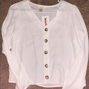 White long sleeve button up. BRAND NEW w/ Tags!!!